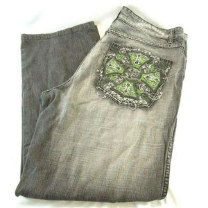 PELLE PELLE JEANS EMBROIDERED POCKET 38X34